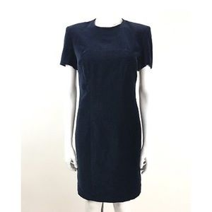 Brooks Brothers Size 2 Navy Blue Velvet Dress